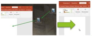 Glisser/déposer du fichier vers PowerPoint (conversion)