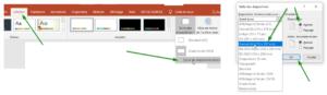 Configuration taille diapositive